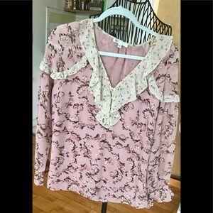 Flower, flowy, flower blouse